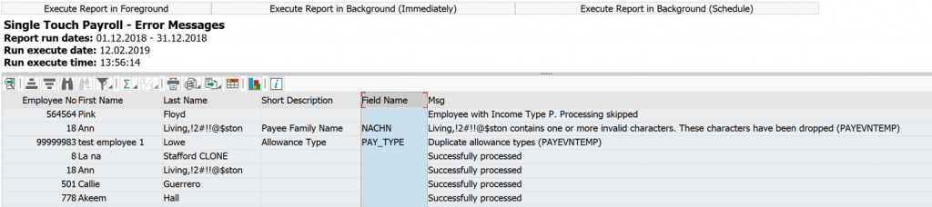 View Log reports in Easy Single Touch Payroll
