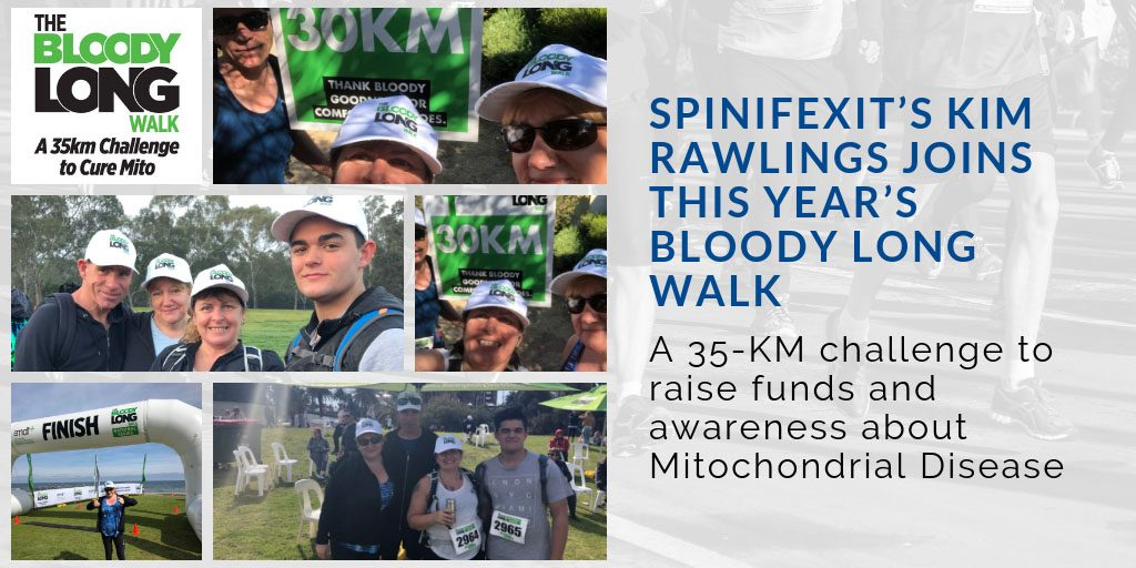 SpinifexIT Kim Rawlings joins bloody long walk challenge