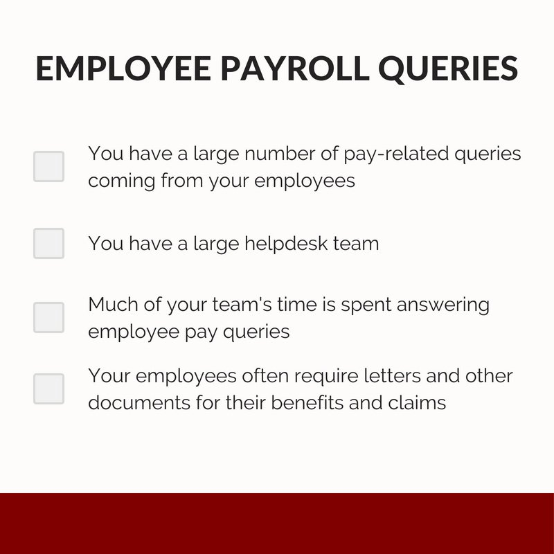 Employee payroll queries checklist