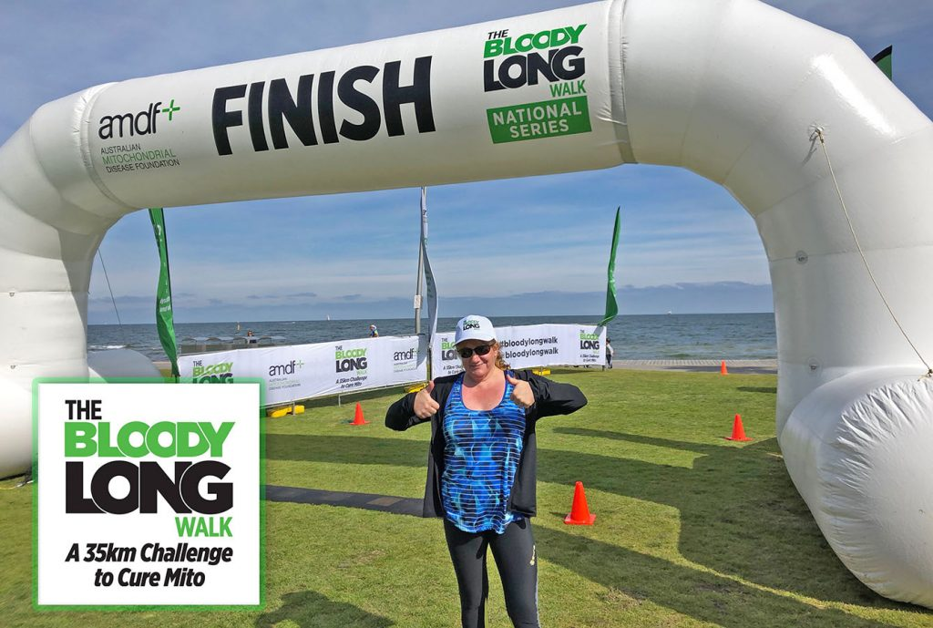kim rawlings bloody long walk challenge