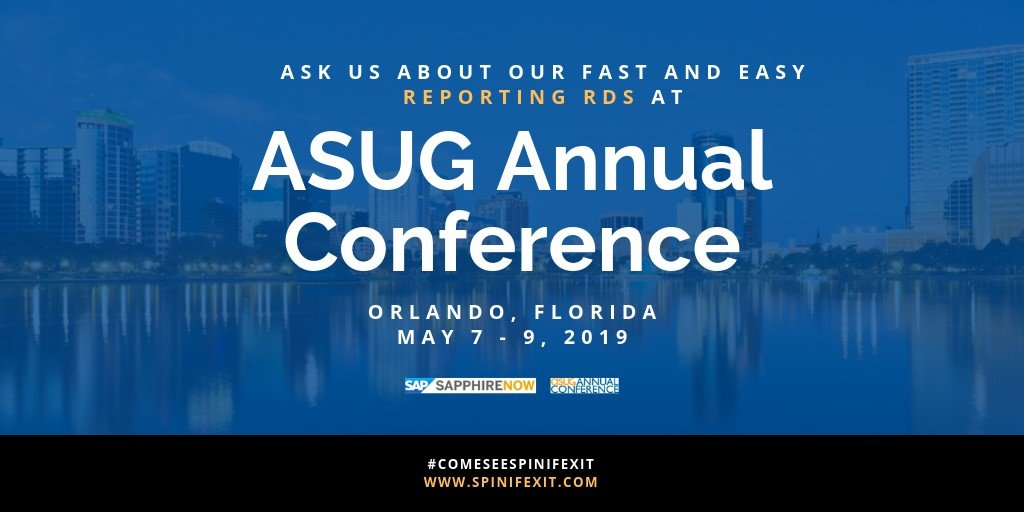 Ask Spinifexit at ASUG Conference Sapphire 2019 in Florida