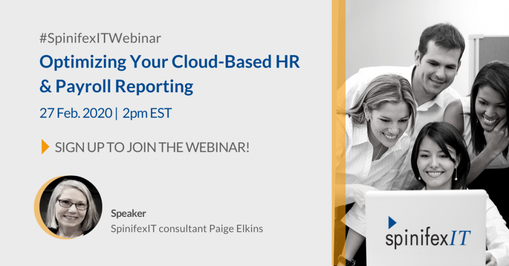 Optimizing Your Cloud-Based HR & Payroll Reporting 2020 webinar image